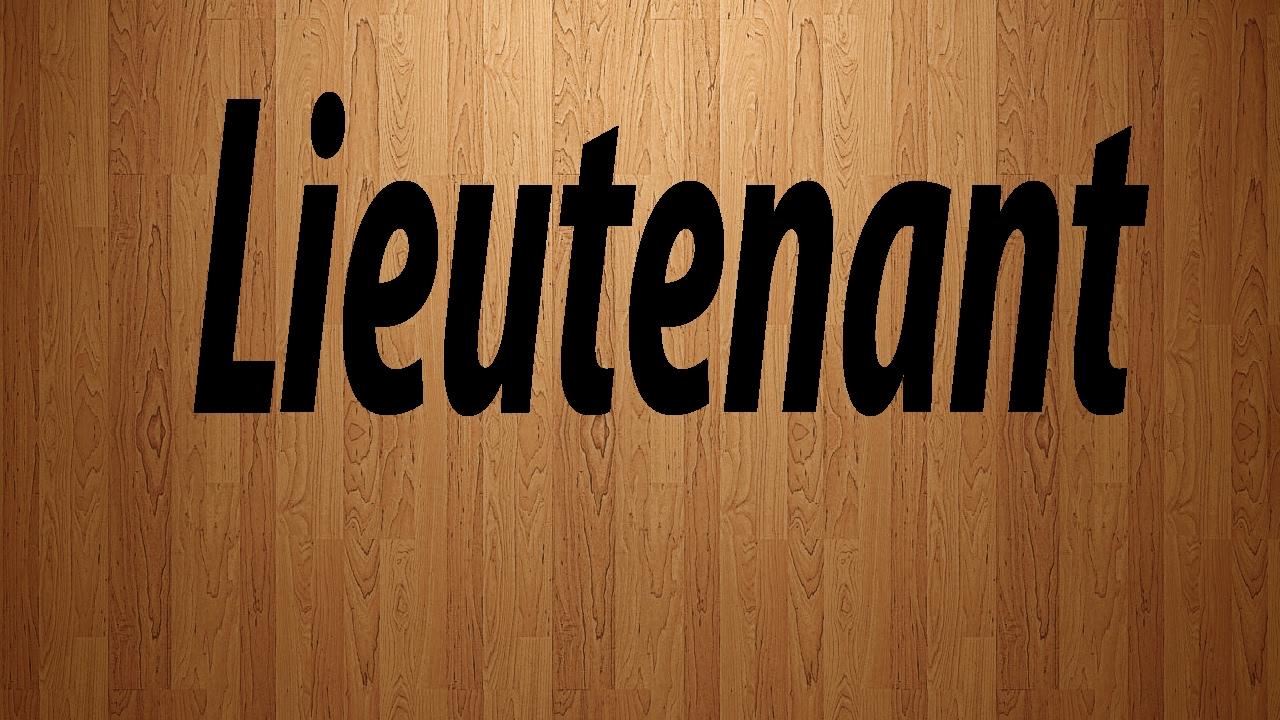 How to Pronounce Lieutenant / Lieutenant Pronunciation