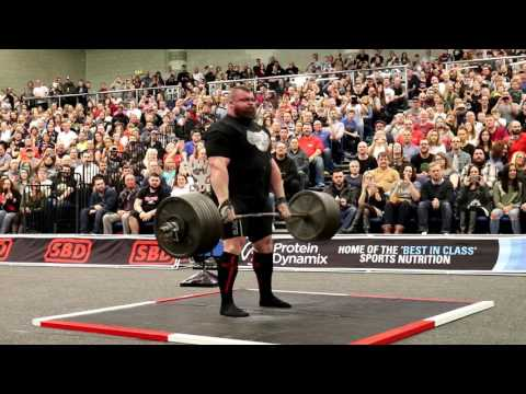 Eddie Hall 350kg Deadlift for 9 reps at Britain's Strongest Man 2017