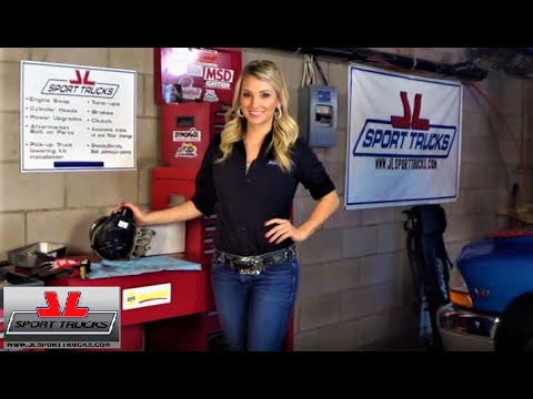 Beautiful Katy demostrates How to re eplace the Power Steering Pump on Dodge Trucks