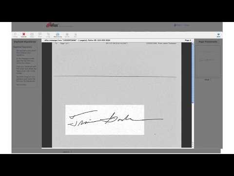 How To Create an Electronic Signature in eFax