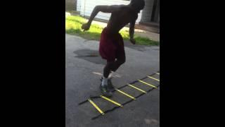Da'quan Brown West Liberty Football Commit (agility Ladder) Class 2013 Db
