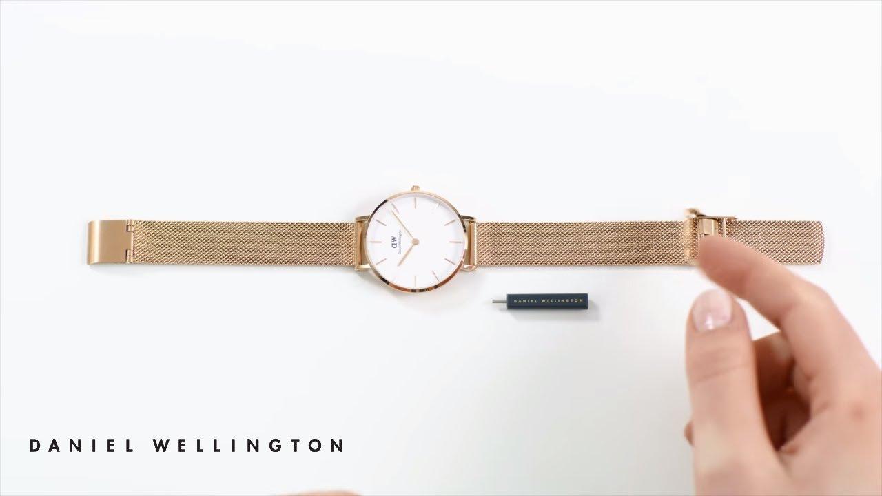 How to adjust your Petite Melrose watch strap - Daniel Wellington