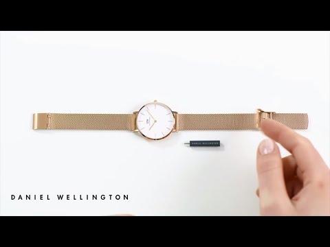 How to adjust your Classic Petite Melrose watch strap - Daniel Wellington