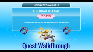 The Sims FreePlay - The Road To Fame Quest Walkthrough
