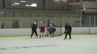 Crosby and Marchand take over 2 on 2 scrimmage