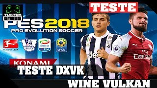 Pes 2018 DXVK  // Wine 3.12 Staging via Lutris