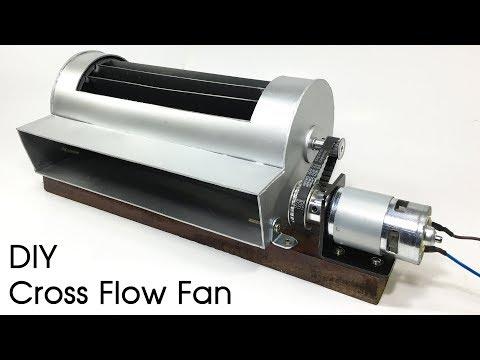How To Make A DIY Cross Flow Fan / Powerful Cross Flow Blower Fan / Air Conditioner Blower Fan