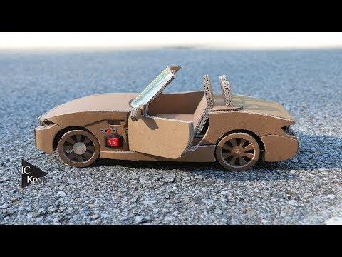 How to make RC Car(BMW Z4) - Amazing Cardboard DIY thumbnail