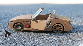 How to make RC Car(BMW Z4) - Amazing Cardboard DIY