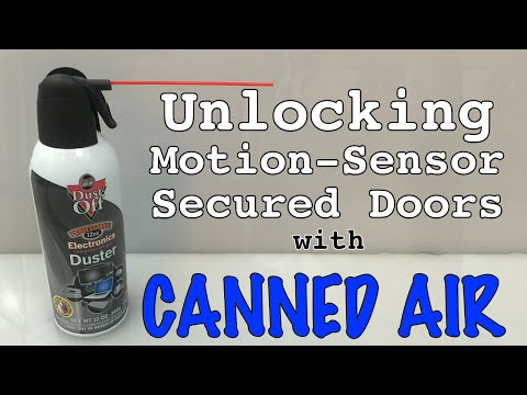 Unlocking Motion-Sensor Secured Doors With Air Duster