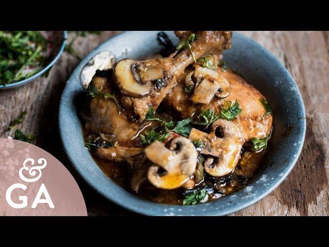Pollo con champiñones y setas 🍄   Receta fácil y riquísima