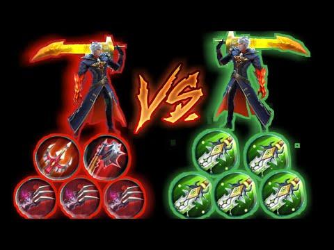 Alucard max lifesteal vs Alucard max damage - Mobile legends