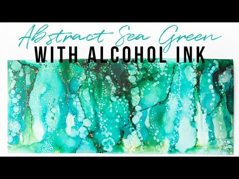 emerald-sea-green-abstract-alcohol-ink-tutorial-painting-#10