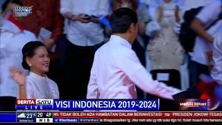 Suasana Penutupan Acara Visi Indonesia Jokowi-Ma'ruf di Sentul
