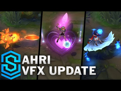 Ahri Visual Effect Update Comparison - All Affected Skins | League Of Legends