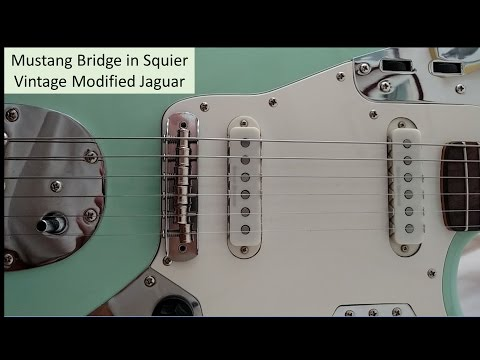 Mustang Bridge in Squier Vintage Modified Jaguar