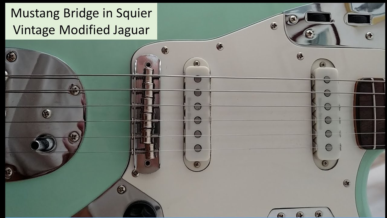 Mustang Bridge In Squier Vintage Modified Jaguar Youtube