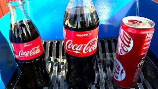 SHREDDING COCA COLA (GLASS BOTTLE, PLASTIC BOTTLE, CANNED)
