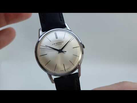 C1960 J W Benson London Men's Vintage Watch With ETA Movement