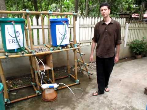 Solar powered water purification in Laos