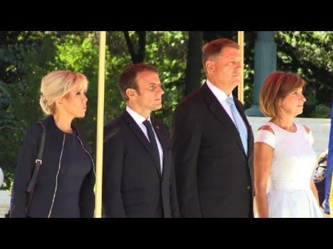 France's Macron meets Romanian President Klaus Iohannis