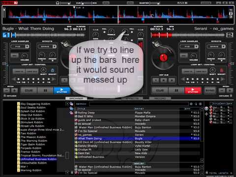 How to mix and sync songs manually with Virtual dj - YouTube