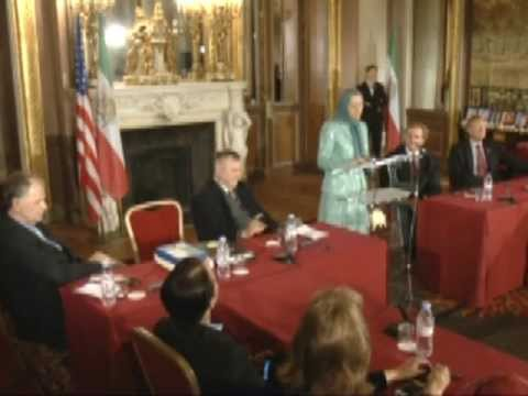 Maryam Rajavi-Meeting with U.S. congressional delegation at Paris