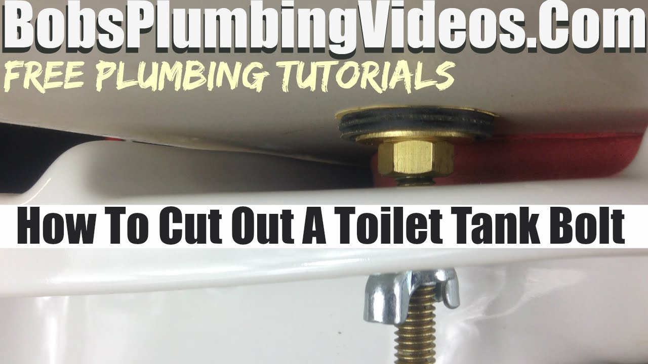 Toilet Tank Bolts Leaking How To Cut Off The Bolts Youtube