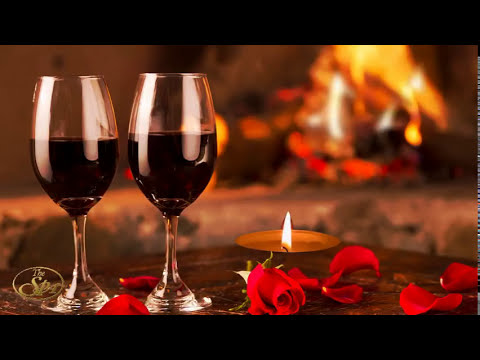 BEST SPANISH GUITAR EVENING ROMANTIC MUSIC FOR  SOUL  LATIN MUSIC FIREPLACE  RELAXING MEDITATION