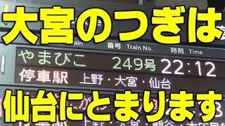 (2)【無停車】金曜夜運転 スーパーやまびこ249号に乗車