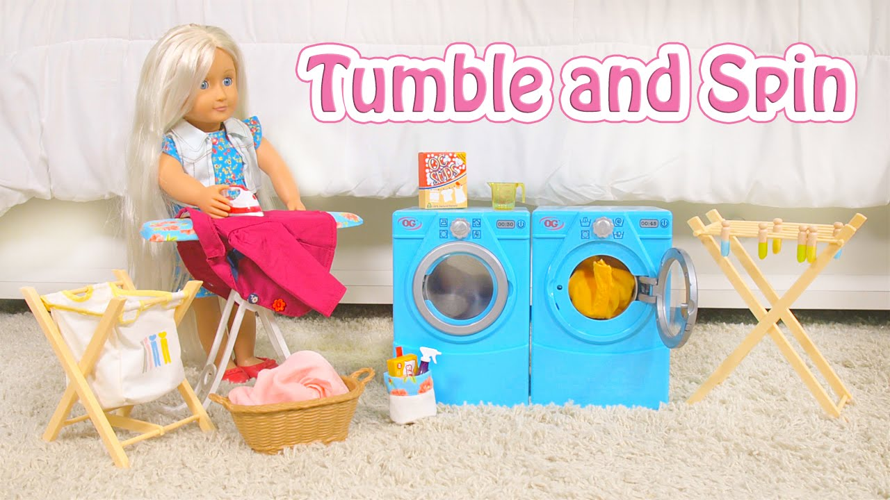 Tumble and Spin Laundry Set from Our Generation - YouTube
