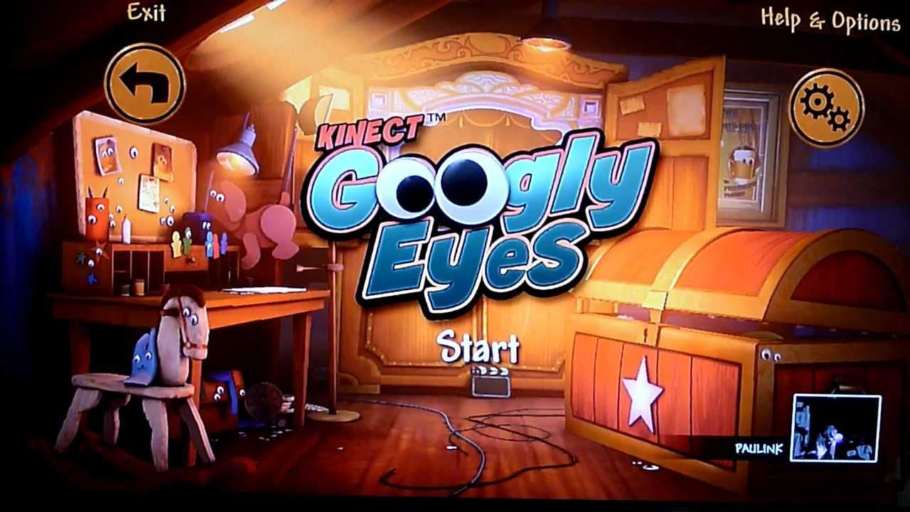 Googly Eyes Xbox 360 Kinect Fun Labs Footage - YouTube