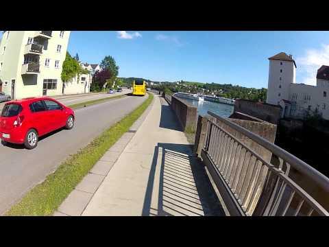 Passau, Germany. Danube River. Cycling Europe, Fatih Aksoy