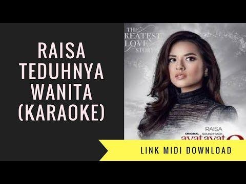 Raisa - Teduhnya Wanita (Karaoke/Midi Download)