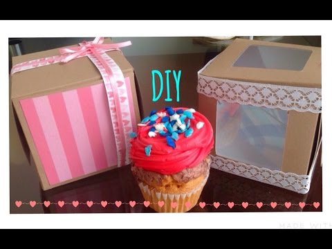 Como hacer una caja para cupcake o regalo l diy youtube for Como hacer una sala esquinera