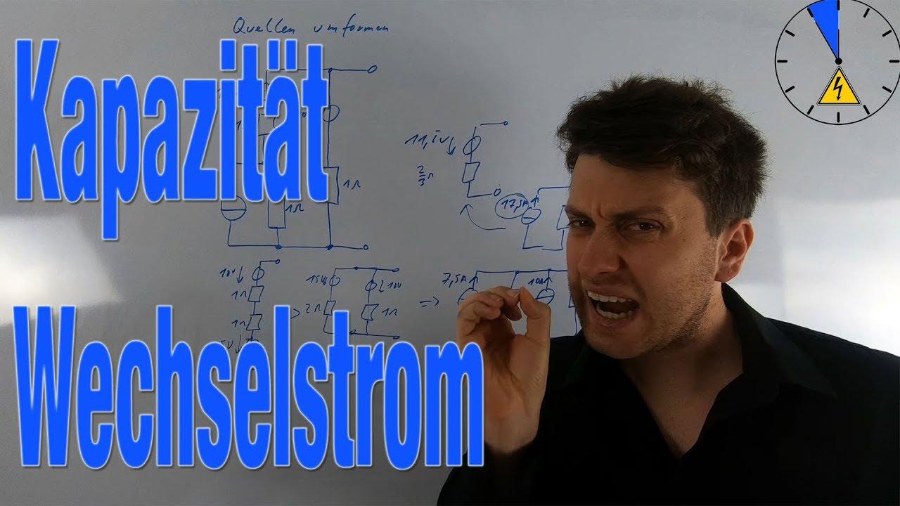 Wechselstrom Kapazität einfacher Stromkreis komplex Zeigerdiagramm ...