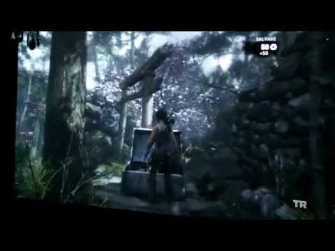 benQ w1070  projector tomb raider 2013 demo picture test (gameplay)