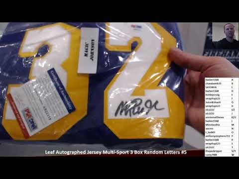 2017 Leaf Autographed Jersey Multi-Sport 3 Box Random Letters #5 ~ 11/11/17