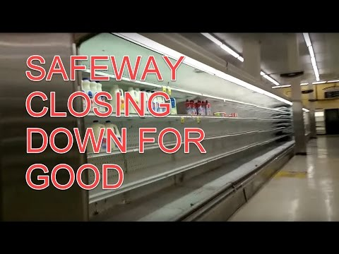 Safeway Grocery Store Closing Permanently Walkthrough