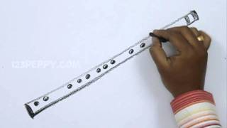 How to Draw a Chinese Bamboo Flute