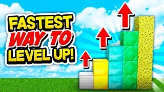 FASTEST WAY TO LEVEL UP YOUR ISLAND! (Minecraft Skyblock)