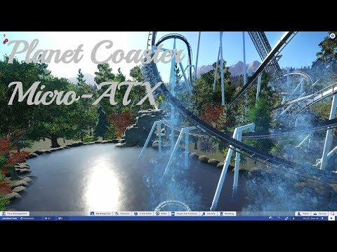 Micro-ATX Inverted Coaster - Planet Coaster - Night POV