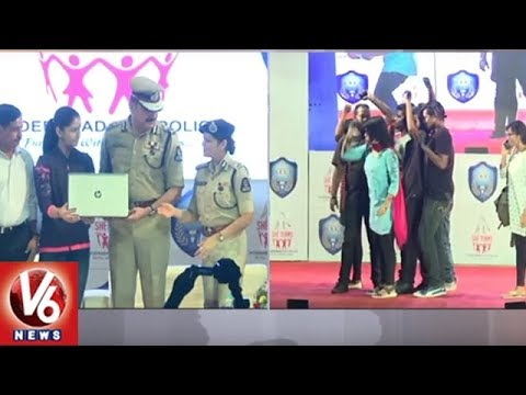 SHE Teams Awareness program Held In Ravindra Bharathi | Hyderabad | V6 News