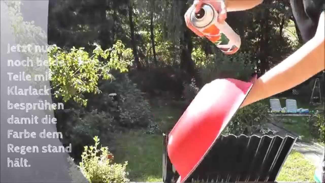DIY mit Mel Fliegenpilze für den Garten basteln - YouTube