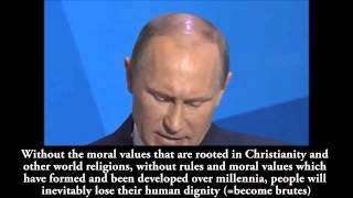 Putin About Cultural Self Preservation of European Tradition, Religion and Race
