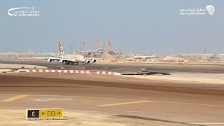 Etihad A380 takes off as southern runway reopens At Abu Dhabi International Airport