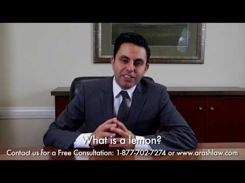 What is A Lemon? | Best Lemon Law Lawyer, Los Angeles California Law Firm