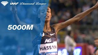 Sifan Hassan turns on the jets at the bend and wins the 5000m in Brussels - IAAF Diamond League 2019