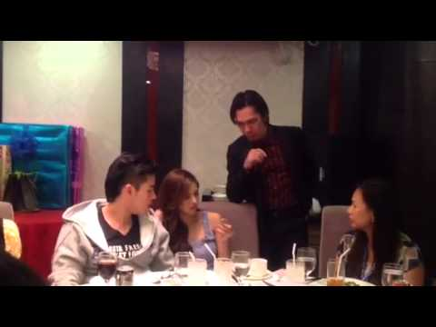 Xian and Kim with the magician at KATG dinner date...01/05/