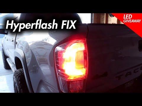 LED Rear Turn Signal Hyper Flash Fix on 2016-2019 Tacoma